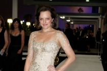 Elisabeth Moss arrives at the Governors Ball during the Academy of Television Arts & Sciences 63rd Primetime Emmy Awards