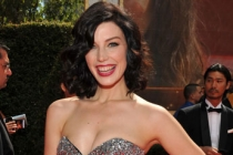 Jessica Pare arrives at the Academy of Television Arts & Sciences 63rd Primetime Emmy Awards at Nokia Theatre L.A. Live