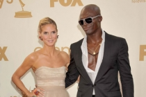 Heidi Klum and Seal arrive at the Academy of Television Arts & Sciences 63rd Primetime Emmy Awards