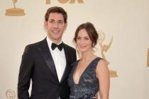 John Krasinski and Emily Blunt arrive at the Academy of Television Arts & Sciences 63rd Primetime Emmy Awards