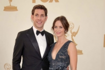 John Krasinski and Emily Blunt arrive at the Academy of Television Arts & Sciences 63rd Primetime Emmy Awards