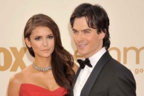 Nina Dobrev and Ian Somerhalder arrive at the Academy of Television Arts & Sciences 63rd Primetime Emmy Awards