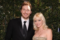 (L-R) Chris Pratt and Anna Faris arrive at the Academy of Television Arts & Sciences 63rd Primetime Emmy Awards
