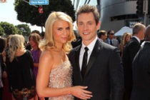 Actress Claire Danes and actor Hugh Dancy arrive at the 62nd Annual Primetime Emmy Awards held at the Nokia Theatre