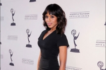 Kerry Washington arrives at Welcome to Shondaland