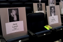 A very funny place to sit for the 65th Emmy Awards.