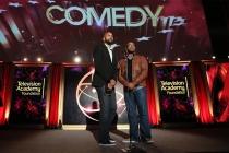 Keegan-Michael Key, left, and Jordan Peele present at the 35th College Television Awards