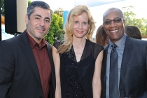 Actor Danny Nucci (The Fosters), Lori Singer (exec producer, Mea Maxima Culpa) and actor Joe Morton (Scandal) at the Seventh Annual Television Academy Honors in Beverly Hills, California.