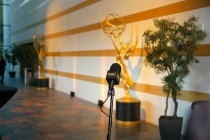The Thank-You Cam awaits the winners at the 37th College Television Awards at the Skirball Cultural Center on Wednesday, May 25, 2016, in Los Angeles.