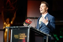 Colton Haynes speaks at the 37th College Television Awards at the Skirball Cultural Center on Wednesday, May 25, 2016, in Los Angeles.