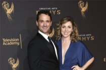 Spencer Averick and guest on the red carpet at the 2017 Creative Arts Emmys.