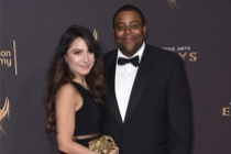Christina Evangeline and Kenan Thompson on the red carpet at the 2017 Creative Arts Emmys.