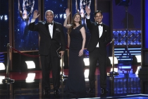 Ernst & Young accountants on stage at the 2017 Primetime Emmys.
