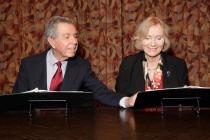 Jeffrey Hayden and Eva Marie Saint