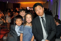 Ian Chen, Forrest Wheeler, Aubrey Anderson-Emmons, and Hudson Yang at the Television Academy's Dynamic and Diverse event, August 25, 2016, at the Saban Media Center, North Hollywood, California.