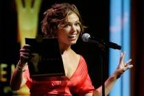Lauren Sivan onstage at the 67th Los Angeles Area Emmy Awards July 25, 2015, at the Skirball Cultural Center in Los Angeles, California.