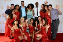 Michael Rooney, James LaRosa, Kimberly Elise, Robert Christopher Riley and the Devil Girls at the Choreographers Nominee Reception in North Hollywood, California.
