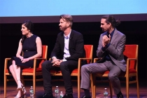 Executive producer Maril Davis, production designer Jon Gary Steele, and composer Bear McCreary on the panel at the Outlander: From Scotland to Paris event, April 5, 2016, at the NYU Skirball Center for the Performing Arts in New York City.
