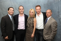 Television Academy CEO Bruce Rosenblum, Showtime president David Nevins, actors Claire Danes and Damian Lewis and executive producer Howard Gordon at An Evening with Homeland.