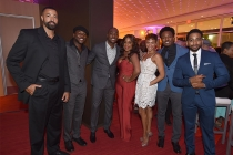 Timon Kyle Durrett, Edwin Hodge, B.J. Britt, Niecy Nash, Carly Hughes, Gentry White, and Shaun Brown at the Television Academy's Dynamic and Diverse event, August 25, 2016, at the Saban Media Center, North Hollywood, California.