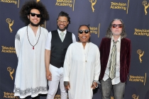 Abraham Rounds, Chris Bruce, Meshell Ndegeocello, and Jabin Bruni at WORDS + MUSIC, presented Thursday, June 29, 2017 at the Television Academy's Wolf Theatre at the Saban Media Center in North Hollywood, California.