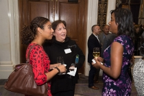 Alisha Laventure, Marian Massaro, and Sharon Frances Moore at the New York Networking Night Out, November 13, 2015 at the St. Regis in New York City.