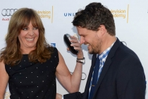 Allison Janney and Matt Jones arrive at the Performers Peer Group nominee reception in West Hollywood.