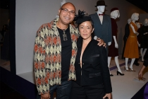 Costume designer Alonzo Wilson (The Wire) and Masters of Sex designer Ane Crabtree.