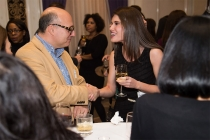 Andy Goldman and Rachel Pierce at the New York Networking Night Out, November 13, 2015 at the St. Regis in New York City.