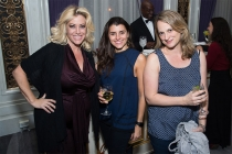 Ariane Von Camp, Arielle Amsalem, and Nicole Potter at the New York Networking Night Out, November 13, 2015 at the St. Regis in New York City.