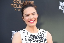 Mandy Moore arrives at the 38th College Television Awards presented by the Television Academy Foundation at the Saban Media Center on Wednesday, May 24, 2017, in the NoHo Arts District in Los Angeles.