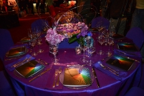 66th Emmy Awards Governors Ball table settings.