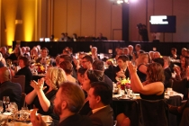 The audience applauds the winners at the 68th Engineering Emmy Awards, October 28, 2016 at Loews Hollywood Hotel in Los Angeles, California.