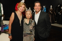 FIDM museum director Barbara Bundy, Mary Rose, and Television Academy chairman and CEO Bruce Rosenblum at The 9th Annual Outstanding Art of Television Costume Design Exhibition at the FIDM Museum & Galleries, Saturday, July 18, 2015, in Los Angeles.