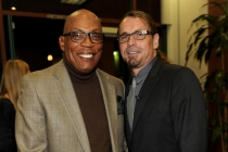 Paris Barclay and Kurt Sutter at An Evening with Sons of Anarchy.
