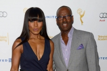 Angela Bassett and Courtney B. Vance arrive at the Performers Peer Group nominee reception in West Hollywood.