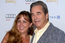 Wendy Treece and Beau Bridges arrive at the Performers Peer Group nominee reception in West Hollywood.