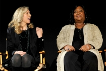 Producer Betsy Beers and creator Shonda Rhimes at An Evening with Shonda Rhimes and Friends.