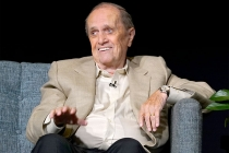 Bob Newhart onstage at The Rise of the Cerebral Comedy: A Conversation with Bob Newhart, presented Tuesday, Aug. 8, 2017, at the Television Academy's Wolf Theater at the Saban Media Center in North Hollywood, California.
