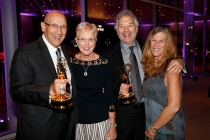 Bob Miller, Judy Miller, Larry Meyers, and Norma Meyers at the L.A. Area Emmy Awards presented at the Television Academy's Wolf Theatre at the Saban Media Center on Saturday, July 22, 2017, in North Hollywood, California.