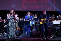 Brooke DeRosa, Rickey Minor, and Ali Shaheed Muhammad perform at WORDS + MUSIC, presented Thursday, June 29, 2017 at the Television Academy's Wolf Theatre at the Saban Media Center in North Hollywood, California.