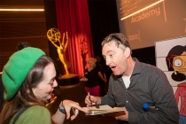 Tom Kenny greets fans at It's Not Just A Cartoon! Animation Day, presented by the Television Academy for its members and their families on Saturday, November 11, 2017 at the Saban Media Center in North Hollywood, California.