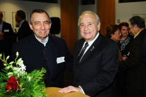 Ed Greene and Leo Chaloukian at the Honoring Leo Chaloukian event in Los Angeles.