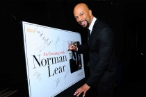 Common signs the event poster at An Evening with Norman Lear at the Montalban Theater in Hollywood.