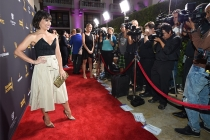 Constance Zimmer on the red carpet at the Performers Peer Group Celebration, August 22, 2016, at the Montage Beverly Hills in Beverly Hills, California.