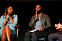 Courtney Kemp Aghoh and Baratunde Thurston at Unlock Our Potential at the Television Academy's Saban Media Center, August 9, 2016.