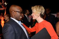 Courtney B. Vance and Sarah Paulson at the Performers Nominee Reception, September 16, 2016 at the Pacific Design Center, West Hollywood, California.
