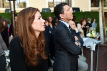 Host Dana Delaney and Television Academy Chairman and CEO Bruce Rosenblum at the awards presentation at the Eighth Annual Television Academy Honors, May 27 at the Montage Beverly Hills.