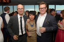 Chris Do, Anna DeLeon and Eric Anderson at the Motion and Title Design Nominee Reception in West Hollywood, California.