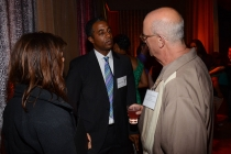Eileen Finkelstein, Hudson H. Smith III, and Jason B. Rosenfield at the Picture Editors Nominee Reception in North Hollywood, California.